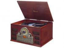 Sistema de Àudio c/Toca-Discos de 3 Rotações,FM,CD,USB E SD Card (Reprod.e Grava)Gravação de LPs,CD - Raveo