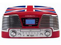 Sistema de Áudio CTX England CD Player  - com MP3 Vinil Radio FM e Entrada Pen-Drive