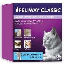 Sistema de terapia para gatos feliway difusor eletrico + refil 48ml - ceva - Ceva