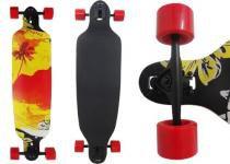 Skate Longboard Abec Rebaixado Truck Invertido Vermelho (SKT-7) - Braslu