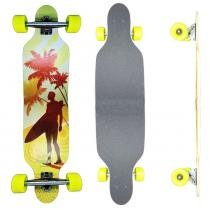 Skate Longboard Californian - 100cm - Truck Invertido Abec11 - Rodas Gel Speed 70mm 78A - Vitsports