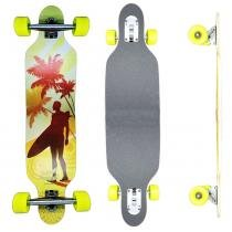 Skate Longboard Drop Thru Californian - 100cm - Truck Invertido Abec11 - Rodas Gel Speed 70mm 78A - Vitsports