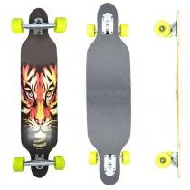 Skate Longboard Drop Thru Tiger - 100cm - Truck Invertido Abec11 - Rodas Gel Speed 70mm 78A - Vitsports