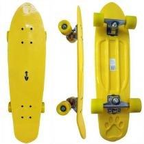 Skate Longboard Grande Retro Abec 7 Cor Amarelo (SKT-13-AMARELO) - Braslu