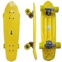 Skate Longboard Grande Retro Abec 7 Cor Amarelo (SKT-13) - Braslu