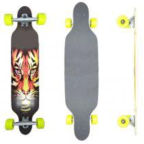 Skate Longboard Tiger - 100cm - Truck Invertido Abec11 - Rodas Gel Speed 70mm 78A - Vitsports