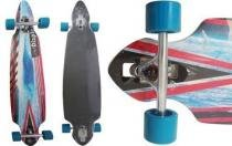 Skate Longboard Truck Invertido Abec 11 Cor Azul (SKT-5) - Braslu
