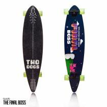 Skate longboard two dogs flying d3 - Two dogs