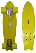 Skate Mini Longboard Retro Abec 7 Truck de Ferro Amarelo (SKT-12) - Braslu