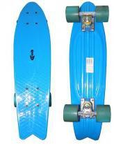 Skate Mini Longboard Retro Abec 7 Truck de Ferro Azul (SKT-12) - Braslu