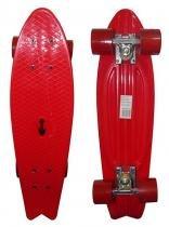 Skate Mini Longboard Retro Abec 7 Truck de Ferro Vermelho (SKT-12) - Braslu