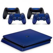 Skin Adesivo Protetor PS4 Slim (Azul Escuro) - Skin t18