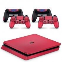 Skin Adesivo Protetor PS4 Slim (Rosa Pink) - Skin t18