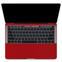 Skin Premium - Adesivo Fibra de Carbono MacBook Pro 13 Com Touch Bar - Vermelha - Skin premium