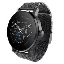 SMA - 09 Smart Watch - Compatível com Android e iOS. Aço Inox - Preto - Modelo mtk2502