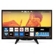 Smart TV 32 Pol AOC LE32S5760/20 LED com Conversor Digital Entradas HDMI e USB - AOC
