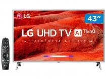 "Smart TV 4K LED 43"" LG 43UM7500PSB Wi-Fi - Inteligência Artificial Controle Smart Magic"