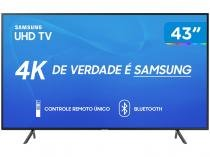 "Smart TV 4K LED 43"" Samsung UN43RU7100 Wi-Fi - HDR Conversor Digital 03 HDMI 02 USB"