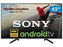 "Smart TV 4K LED 43"" Sony KD-43X705F Wi-Fi - HDR Conversor Digital 3 HDMI 3 USB DLNA"
