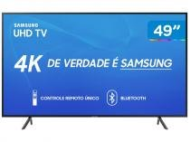 "Smart TV 4K LED 49"" Samsung UN49RU7100GXZD - Wi-Fi Conversor Digital 3 HDMI 2 USB"