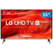 "Smart TV 4K LED 55"" LG 55UM7520PSB Wi-Fi HDR - Inteligência Artificial Conversor Digital 4 HDMI"