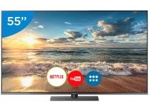 "Smart TV 4K LED 55"" Panasonic TC-55FX800B - Wi-Fi Conversor Digital 4 HDMI 3 USB"