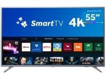 "Smart TV 4K LED 55"" Philips 55PUG6513/78 - Wi-Fi Conversor Digital 3 HDMI 2 USB"