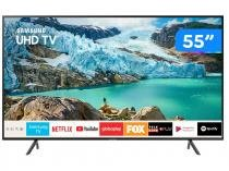 "Smart TV 4K LED 55"" Samsung UN55RU7100GXZD - Wi-Fi Conversor Digital 3 HDMI 2 USB"
