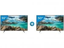 "Smart TV 4K LED 55"" Samsung UN55RU7100GXZD - Wi-Fi Conversor Digital + Smart TV 4K LED 50"""