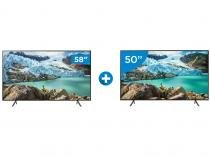 "Smart TV 4K LED 58"" Samsung UN58RU7100 - Wi-Fi HDR Conversor Digital + Smart TV 4K LED 50"""