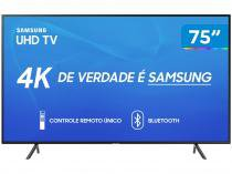 "Smart TV 4K LED 75"" Samsung UN75RU7100 Wi-Fi - HDR Conversor Digital 3 HDMI 2 USB"
