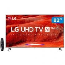 "Smart TV 4K LED 82"" LG 82UM7570PSB Wi-Fi - Inteligência Artificial Controle Smart Magic"