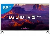 "Smart TV 4K LED 86"" LG 86UK6520PSA Wi-Fi HDR - Inteligência Artificial Conversor Digital 4 HDMI"