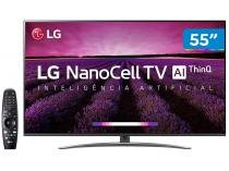 "Smart TV 4K NanoCell 55"" LG 55SM8100PSA Wi-Fi - Inteligência Artificial Controle Smart Magic"