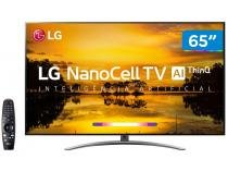 "Smart TV 4K NanoCell 65"" LG 65SM9000PSA Wi-Fi - Inteligência Artificial Controle Smart Magic"