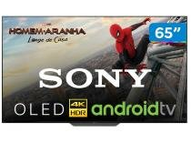 """Smart TV 4K OLED 65"""" Sony XBR-65A8F - Android Wi-Fi HDR Conversor Digital 4 HDMI 3 USB"""