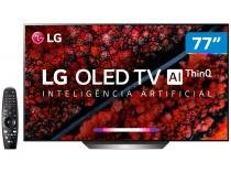 "Smart TV 4K OLED 77"" LG OLED77C9PSB Wi-Fi - Bluetooth HDR Inteligência Artificial 4 HDMI 3 USB"