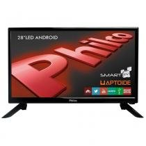 "Smart TV Android LED 28"" Philco PH28N91DSGWA HD com WiFi 2 USB 2 HDMI -"