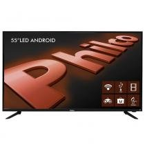 "Smart TV Android LED 55"" Philco PH55A17DSGWA Full HD com Wi-Fi 2 USB 3 HDMI Ginga Surround Sleep Timer e 60Hz -"