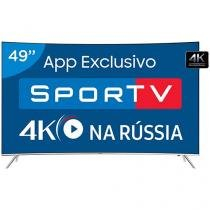 "Smart TV Curva 55"" Samsung 4K Ultra HD 55KS7500 - Conversor Digital 4 HDMI 3 USB Wi-Fi SUHD"