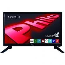 "Smart TV LED 28"" Philco Backlight D-LED - PH28N91DSGW Conversor Digital 2 USB 2 HDMI"