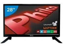 "Smart TV LED 28"" Philco PH28N91DSGWA - Conversor Digital Wi-Fi 2 HDMI 2 USB"