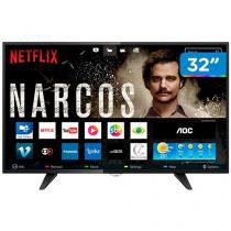 "Smart TV LED 32"" AOC LE32S5970 - Conversor Digital Wi-Fi 3 HDMI 2 USB"