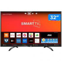 "Smart TV LED 32"" AOC LE32S5970S Wi-Fi  - Conversor Digital 3 HDMI 2 USB"