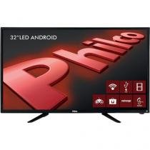 "Smart TV LED 32"" Philco PH32B51DSGWA HD com Conversor Digital 2 HDMI 2 USB Wi-Fi Android - Preta -"