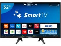 "Smart TV LED 32"" Philips 32PHG5102 - Conversor Digital 3 HDMI 2 USB"