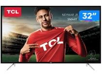 "Smart TV LED 32"" TCL S4900S - Conversor Digital Wi-Fi 3 HDMI 2 USB"