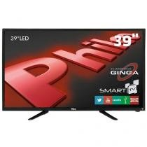 Smart TV LED 39 HD Philco PH39N91DSGW com Conversor Digital, Tecnologia Ginga, Wi-Fi, Entradas HDMI - Philco
