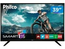 "Smart TV LED 39"" Philco PH39E60DSGWA - Android Wi-Fi 2 HDMI 2 USB"