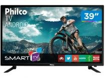 "Smart TV LED 39"" Philco PTV39N86SA Android Wi-Fi  - Conversor Digital 2 HDMI 2 USB"